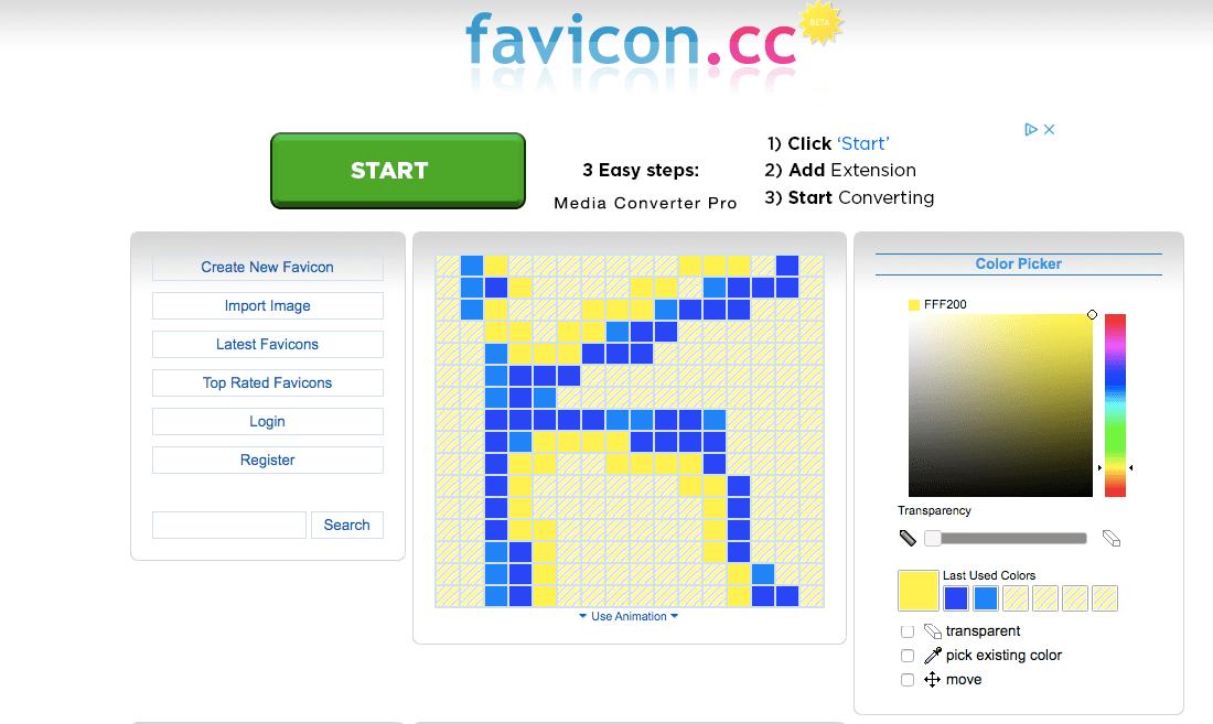 создать фавикон