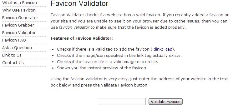 не отображается favicon: