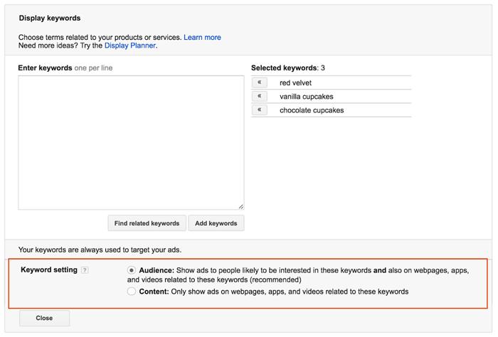 keywords-settings