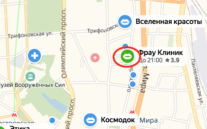 """Что такое """"зеленая метка"""" в картах Яндекса"""