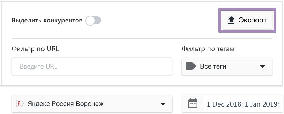Как экспортировать данные Топ-100