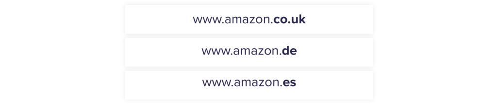 Амазон выносит региональные версии на отдельные домены