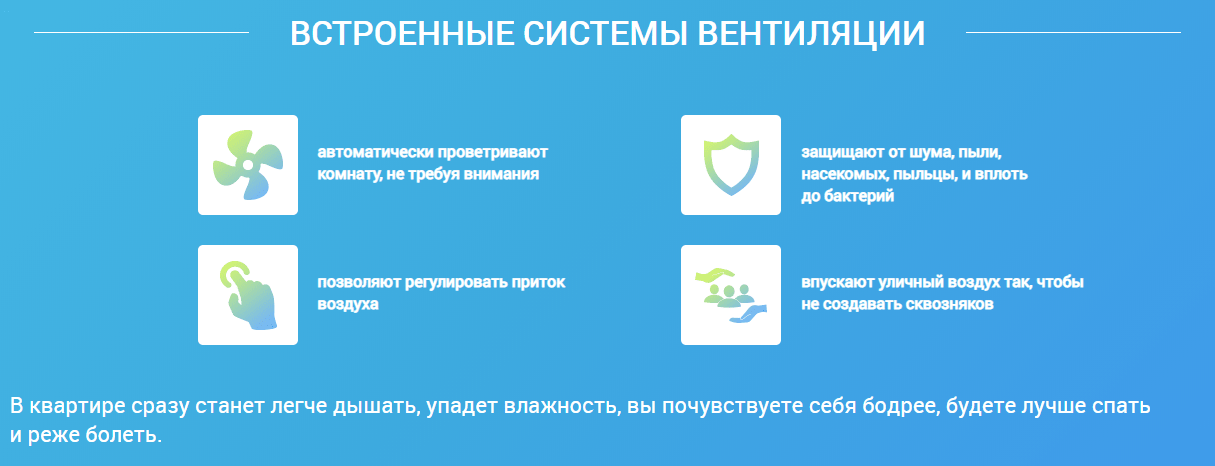 Описание продукта на одностраничном сайте