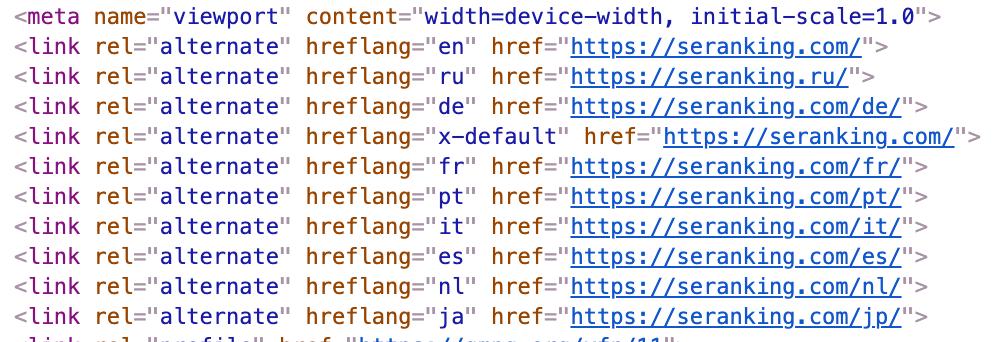 Как использовать атрибут hreflang